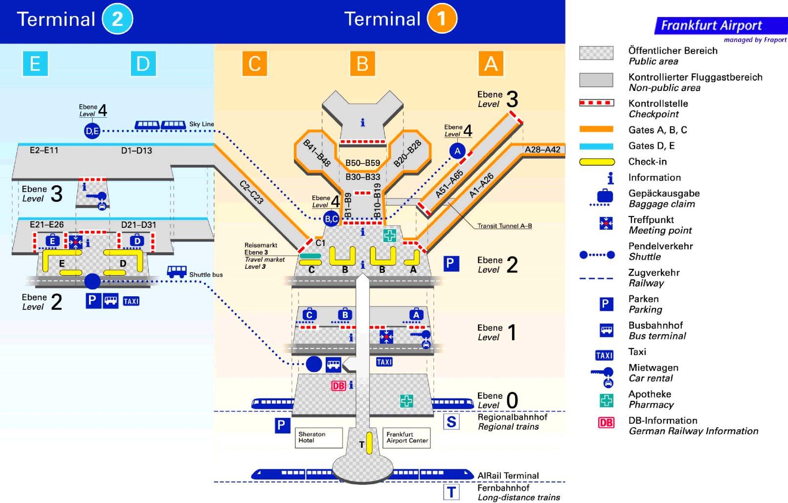 Frankfurter Flughafen Plan
