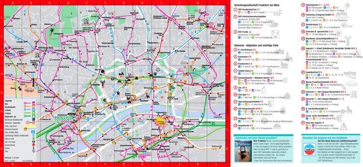 Frankfurt am Main Innenstadtplan mit sehenswürdigkeiten