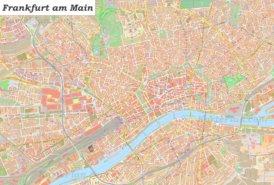 Große detaillierte stadtplan von Frankfurt am Main