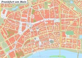 Karte von Frankfurt am Main Zentrum