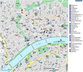 Stadtplan Frankfurt am Main mit sehenswürdigkeiten