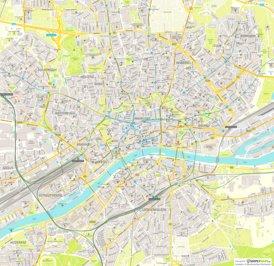 Straßenkarte von Frankfurt am Main
