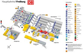 Freiburg im Breisgau Hauptbahnhof plan
