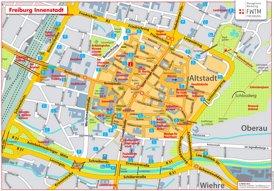 Freiburg im Breisgau Innenstadtplan