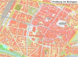 Karte von Freiburg im Breisgau Altstadt
