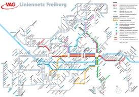 LinienNetzPlan Freiburg im Breisgau