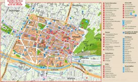 Touristischer stadtplan von Freiburg im Breisgau