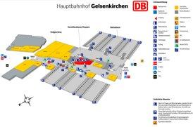 Gelsenkirchen Hauptbahnhof plan