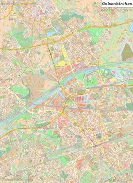 Große detaillierte stadtplan von Gelsenkirchen
