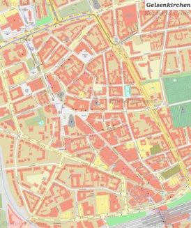 Karte von Gelsenkirchen-Altstadt