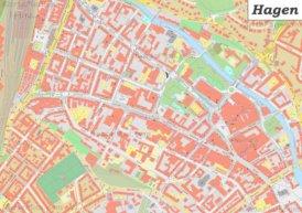 Karte von Hagener Stadtzentrum