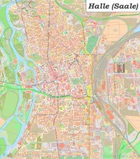 Große detaillierte stadtplan von Halle (Saale)