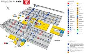 Halle Hauptbahnhof plan