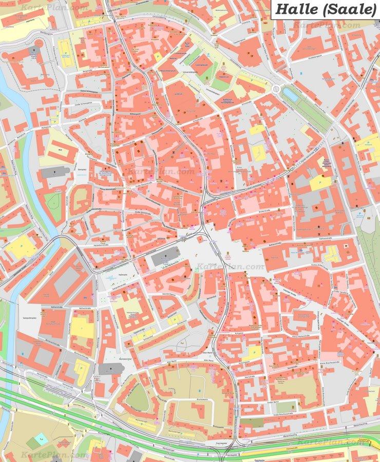 Karte von Halle-Altstadt
