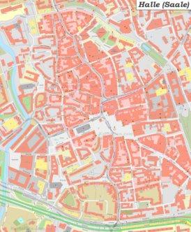 Karte von Halles Altstadt