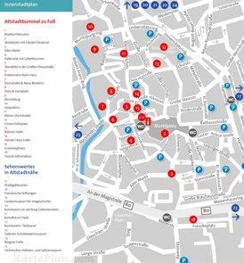 Touristischer stadtplan von Halle (Saale)