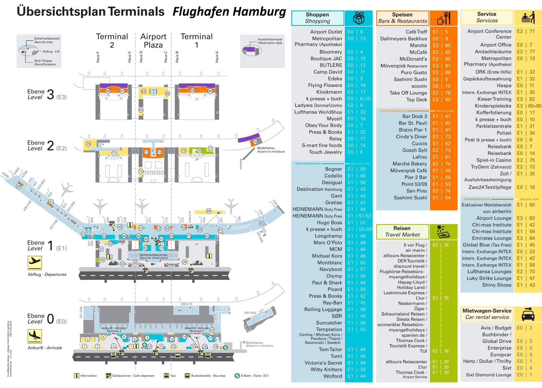 karte flughafen hamburg Flughafen Hamburg Plan