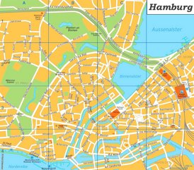Hamburg Innenstadtplan