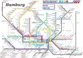 Hamburg S-Bahn und U-Bahn plan