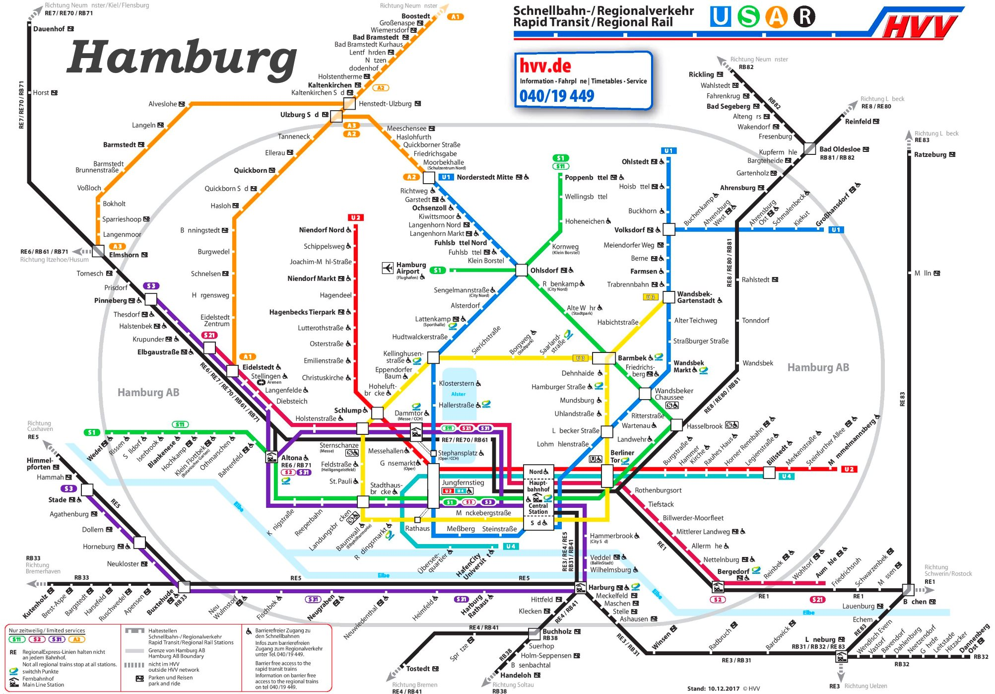 hamburg ubahn karte Hamburg S Bahn und U Bahn plan