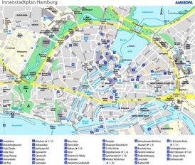 Stadtplan Hamburg mit sehenswürdigkeiten