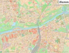 Große detaillierte stadtplan von Hamm