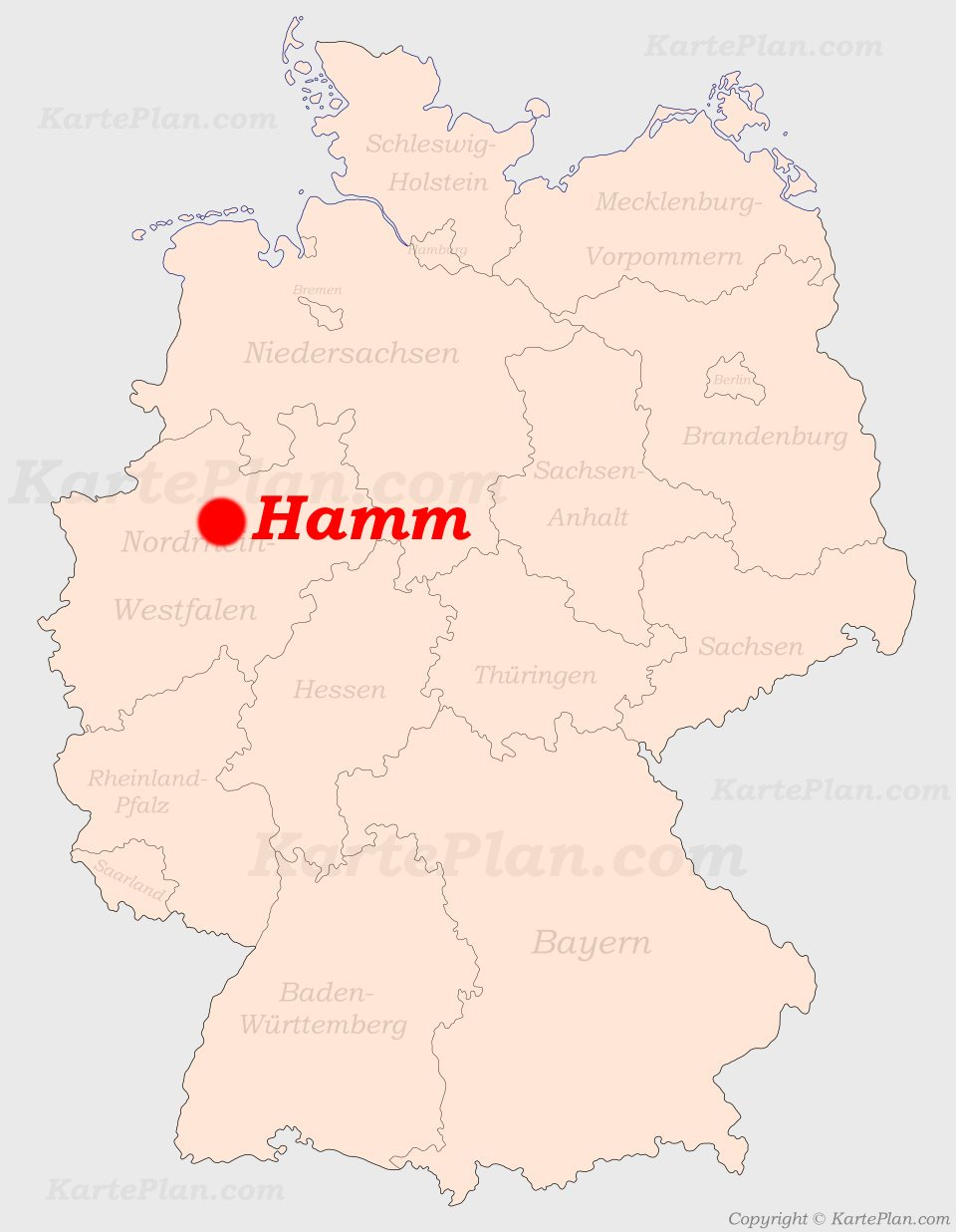 Hamm Karte.Hamm Auf Der Deutschlandkarte