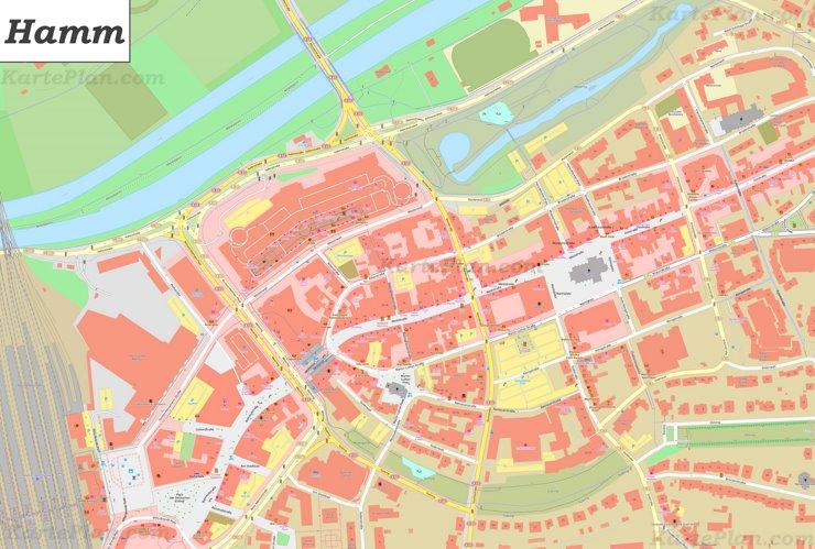Hamm Karte.Karte Von Hamm Innenstadt