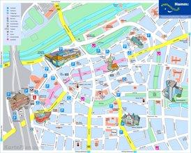 Touristischer stadtplan von Hamm