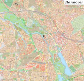 Große detaillierte stadtplan von Hannover