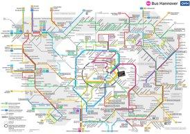 Busnetzplan Hannover
