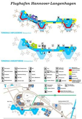 Flughafen Hannover Plan