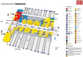 Hannover Hauptbahnhof plan