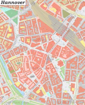 Karte von Hannovers Zentrum