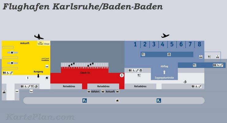 Flughafen Karlsruhe/Baden-Baden Plan