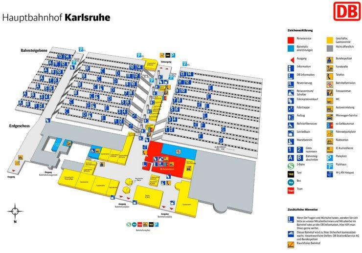Karlsruhe Hauptbahnhof plan