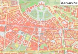 Karte von Karlsruhes Zentrum
