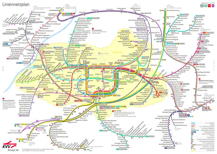 LinienNetzPlan Karlsruhe