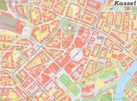 Karte von Kassel-Mitte