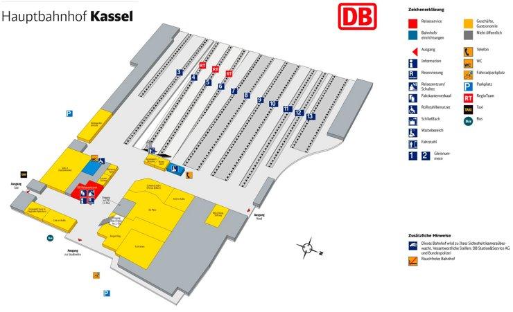 Kassel Hauptbahnhof plan