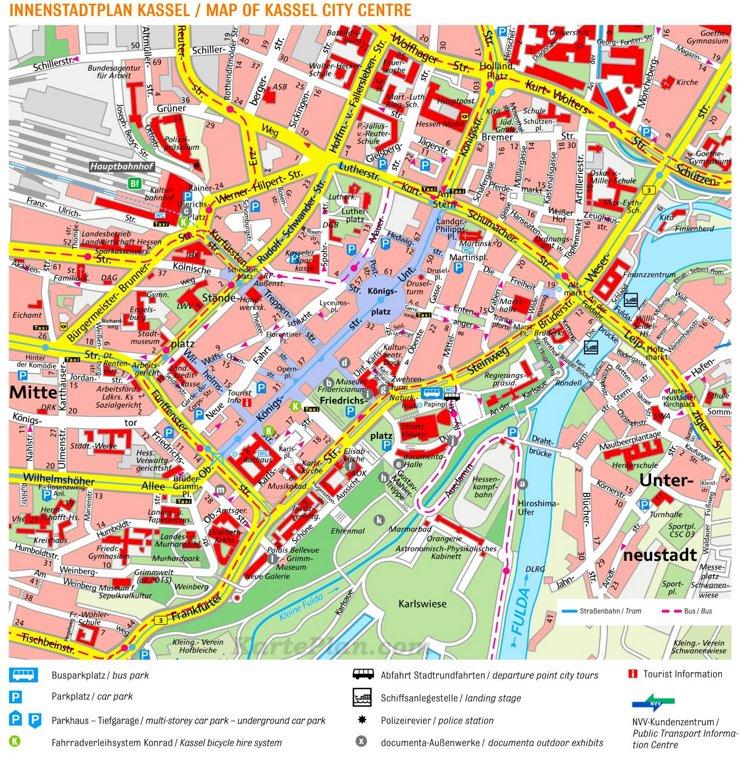 Kassel Innenstadtplan