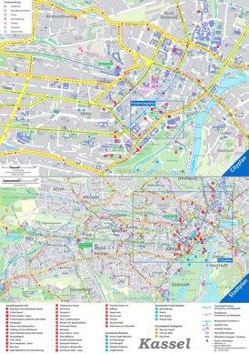 Touristischer stadtplan von Kassel