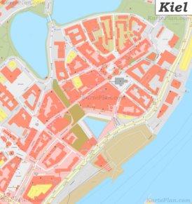 Karte von Kieler Altstadt