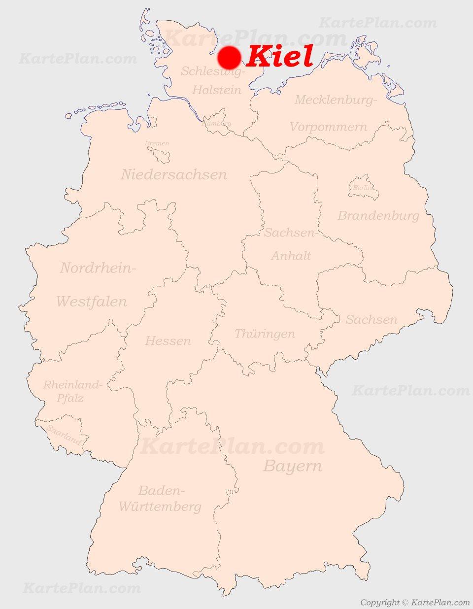 Kiel Auf Der Deutschlandkarte