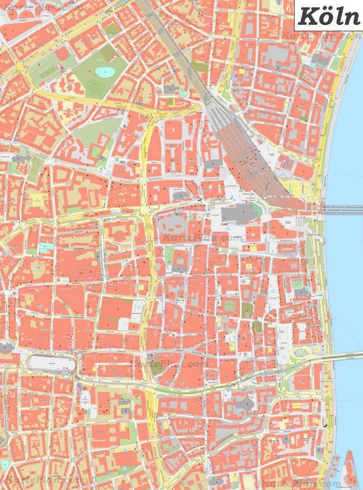 Karte von Köln Zentrum