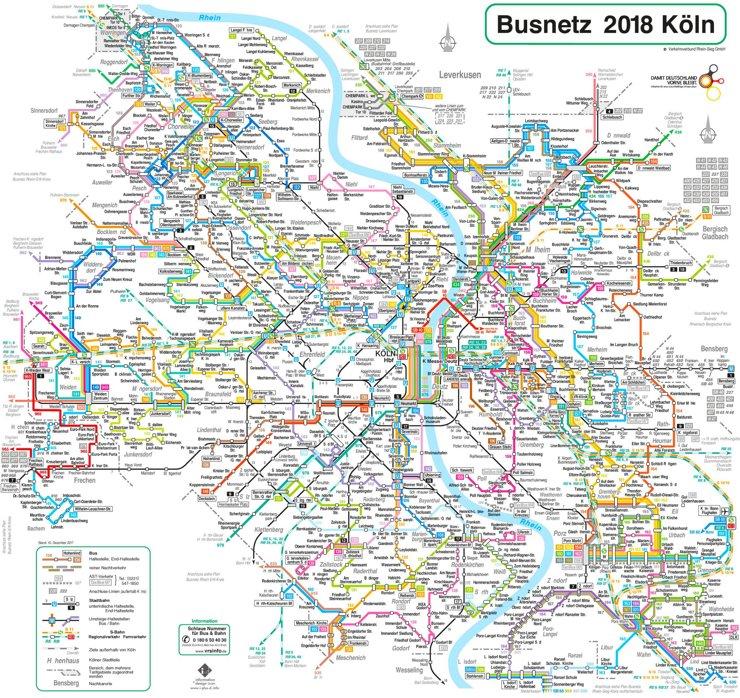 Köln Busnetzplan