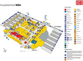 Köln Hauptbahnhof plan