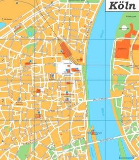 Köln Innenstadtplan