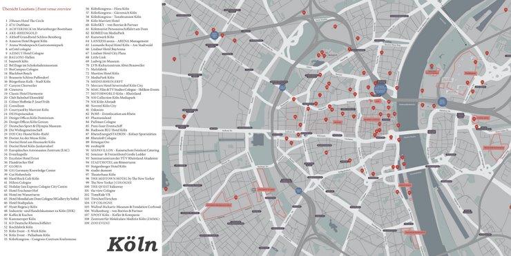 Stadtplan Köln mit hotels