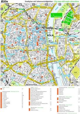 Stadtplan Köln mit sehenswürdigkeiten